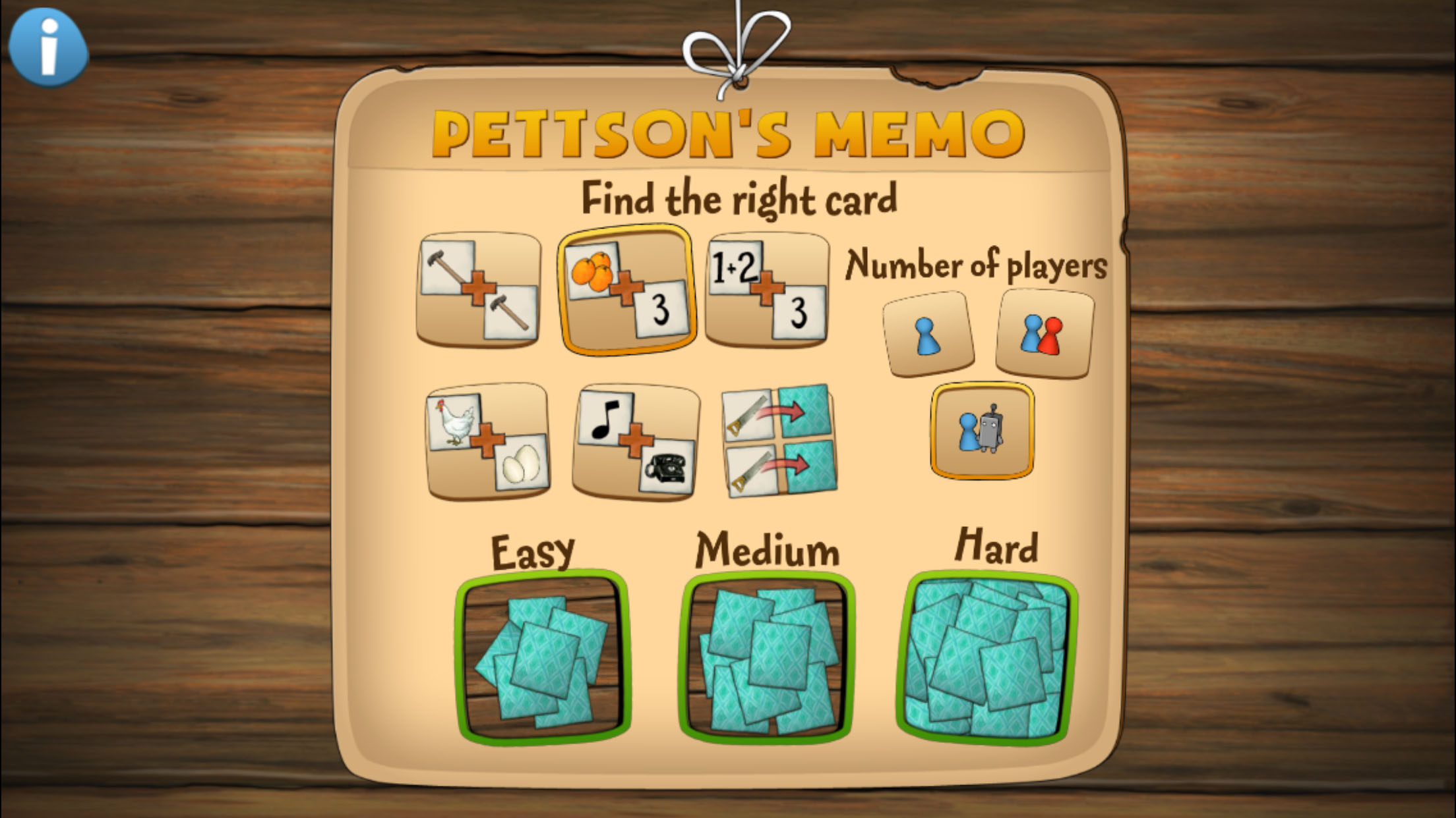 Img0308g logic memory and the exciting memory memory play by yourself with a friend or against pettson with three different difficulty levels the game suits solutioingenieria Choice Image